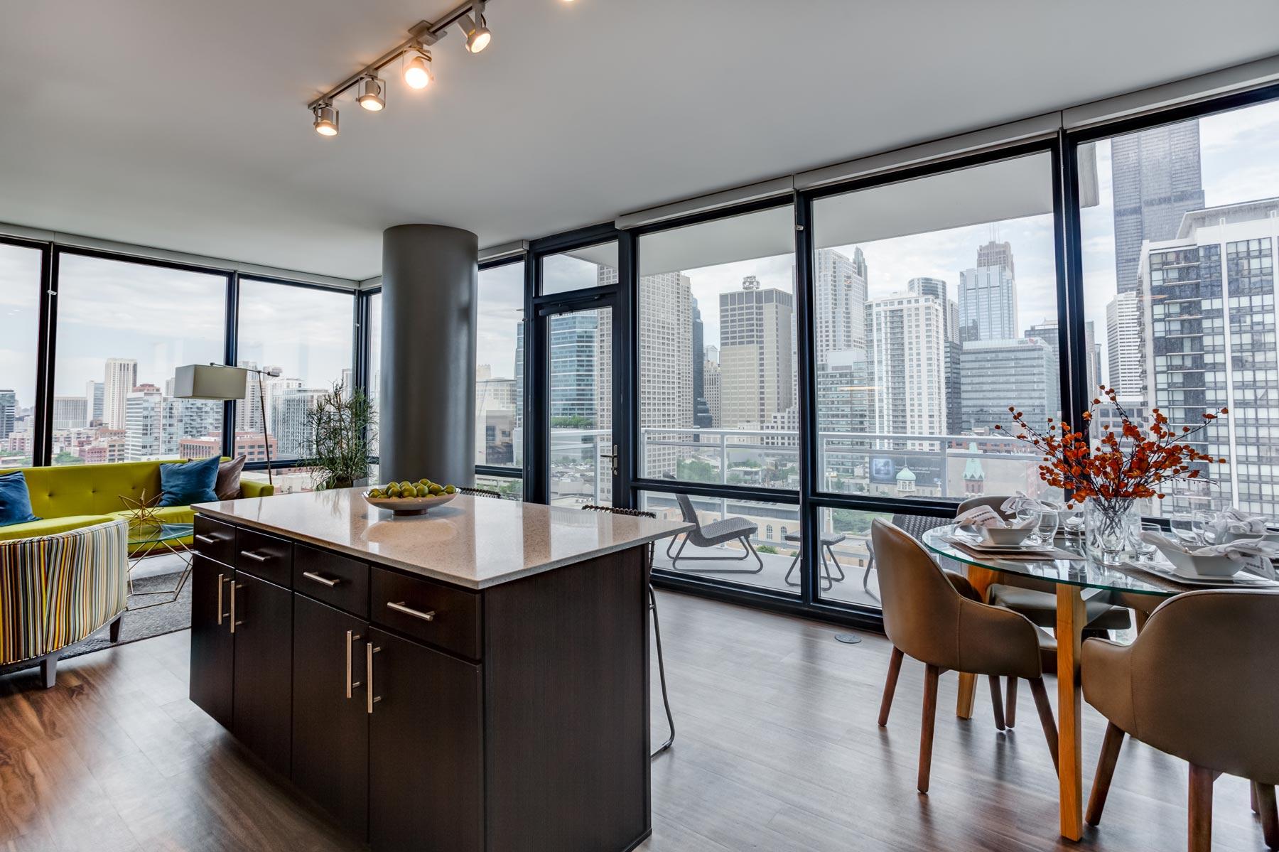 Arkadia west loop studio 1 2 3 bedroom chicago - Three bedroom apartments chicago ...